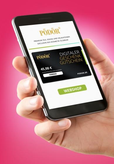 Pödör Digitaler Geschenkgutschein, von 10 bis 500 Euro_1